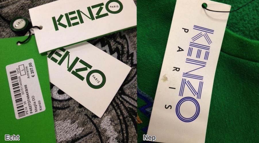 papieren labels kenzo shirt trui