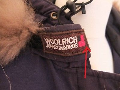 fake woolrich label logo