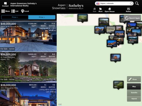 zoek naar een luxe woning app