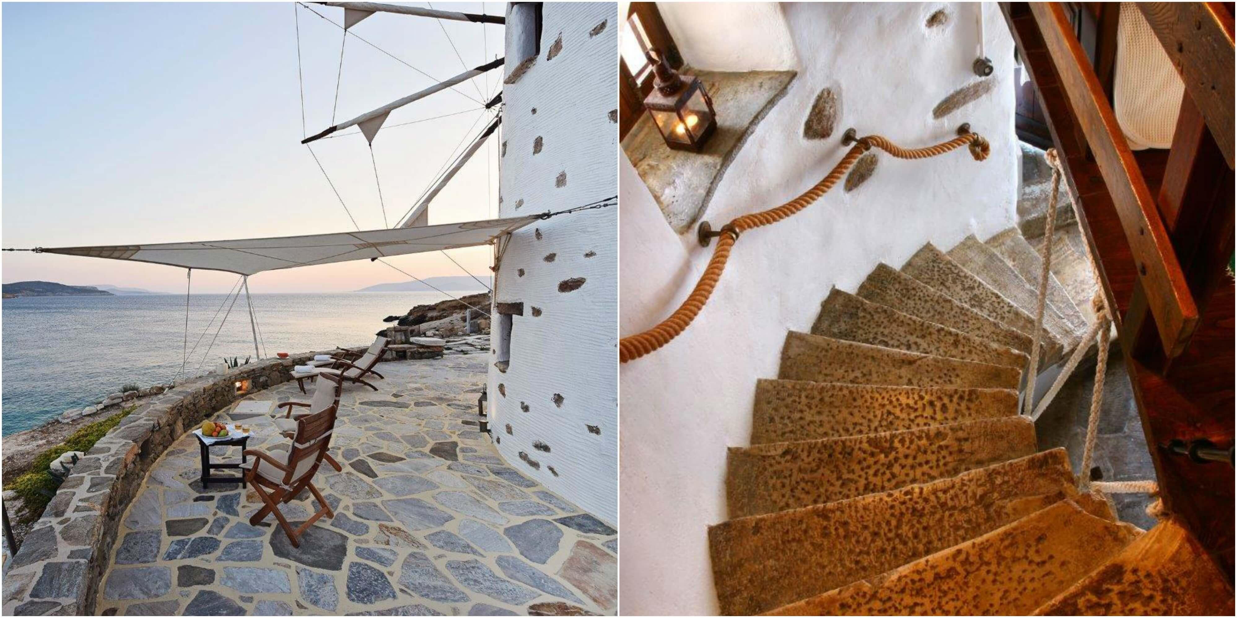 omgebouwde Windmolen op Koufonissia, Griekenland