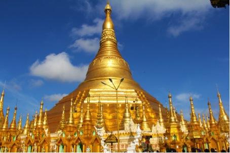 Myanmar 's grootste tempel Shwedagon Pagoda