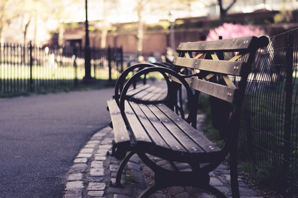 stoel in het park