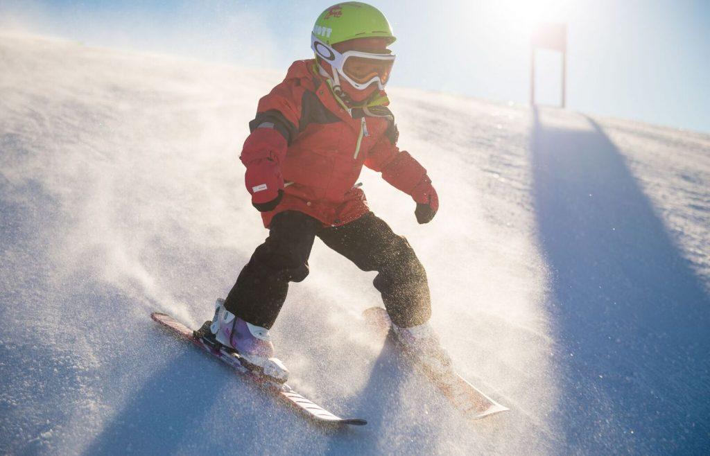 kinderen skien myrkdalen