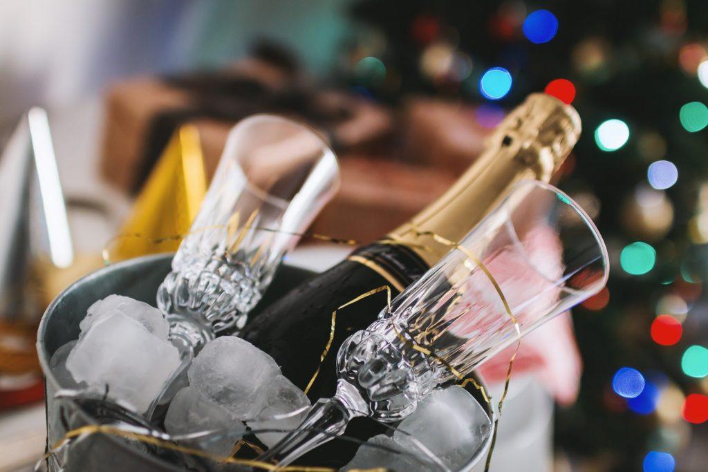 champagne met ijs