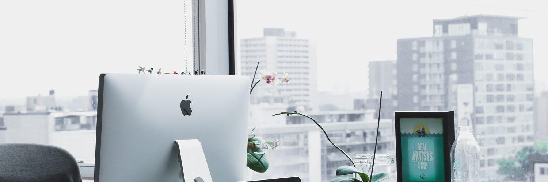 kantoor met macbook