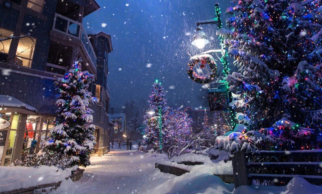 kerstdecoratie buiten