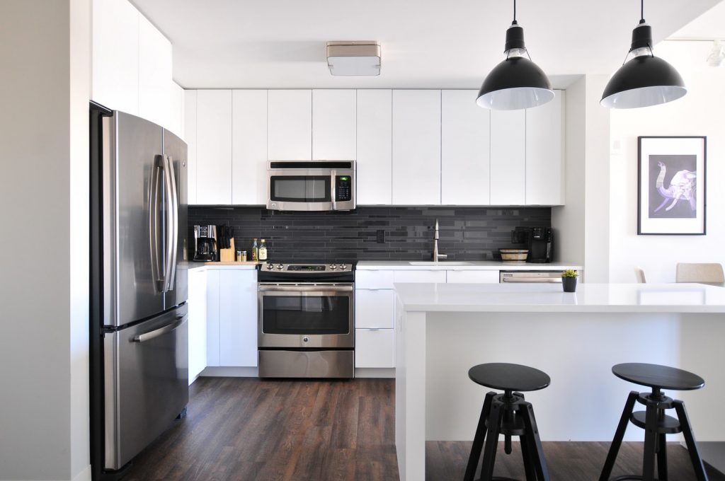 keuken zwart wit