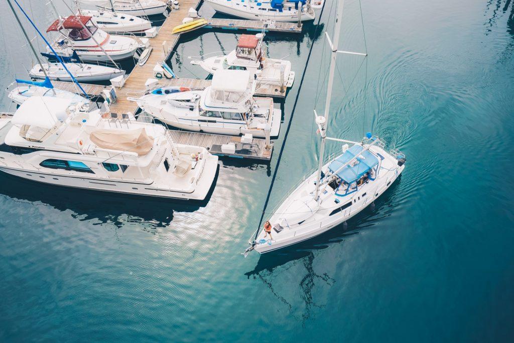 boten aan de haven