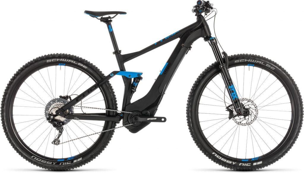 elektrische mountainbike zwart