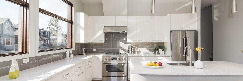 keuken met led verlichting