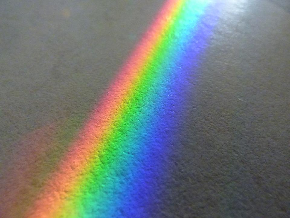 regenboog op tapijt