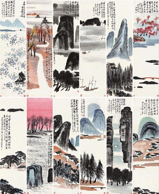 Qi-Baishi-12-landschap-schermen