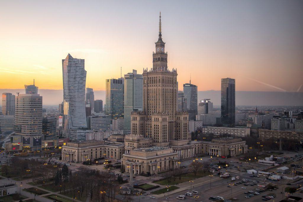 Warschau-zonsondergang
